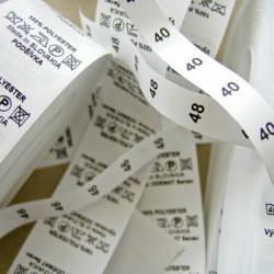 Печать текстильных ярлыков (нейлон, сатин)